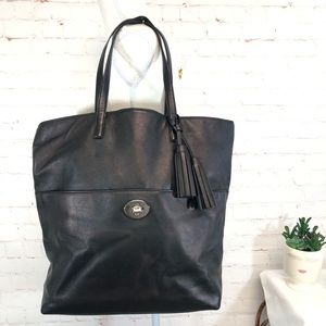 Coach Legacy Iridescent Black Leather Tote